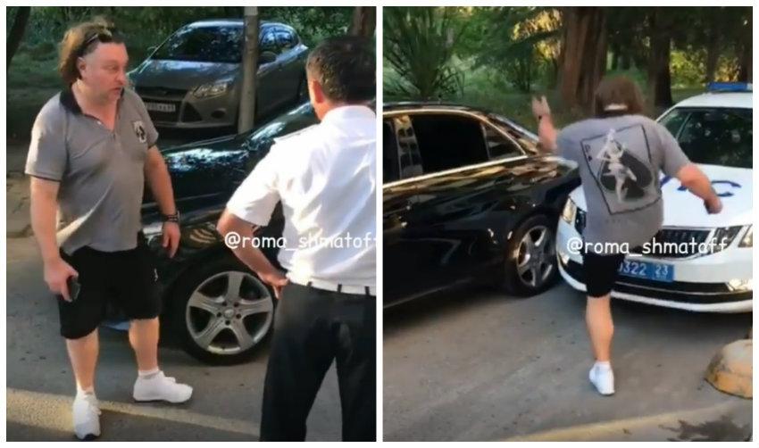 """В Сочи задержан водитель Mercedes с """"блатными"""" номерами, который оскорблял полицейских"""