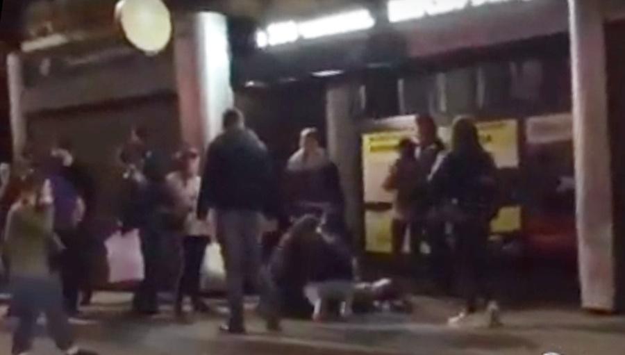 Машина врезалась в остановку с людьми в центре Краснодара