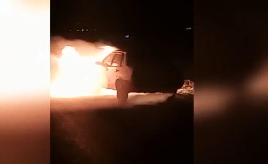 На Кубани спящего водителя спасли из горящей машины