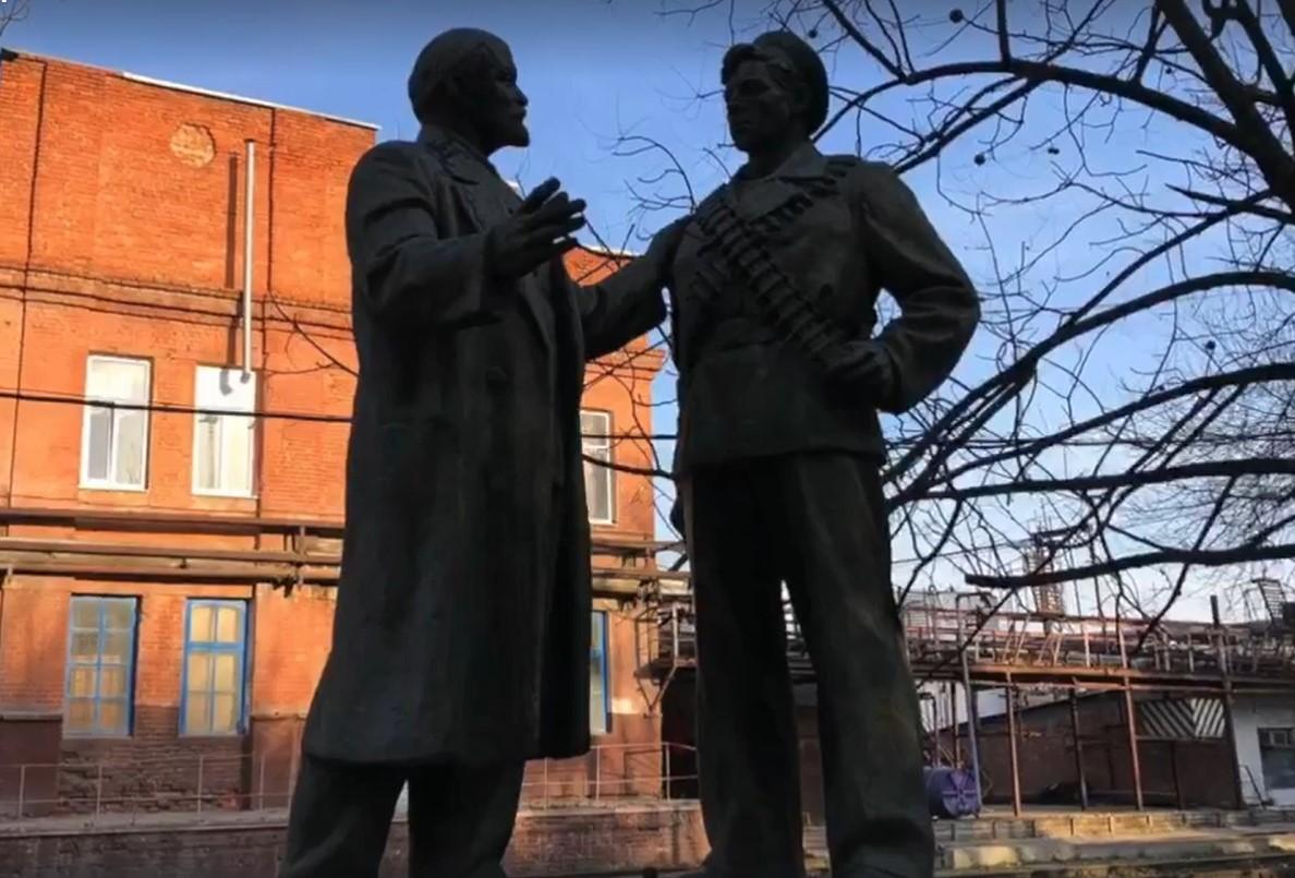 Скульптуру Ленина с матросом установят в одном из скверов Краснодара
