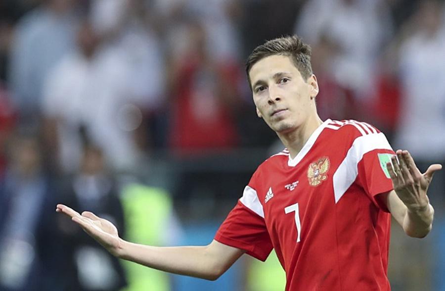 Сборная России по футболу «всухую» разгромила Сан-Марино в матче отбора на Евро-2020