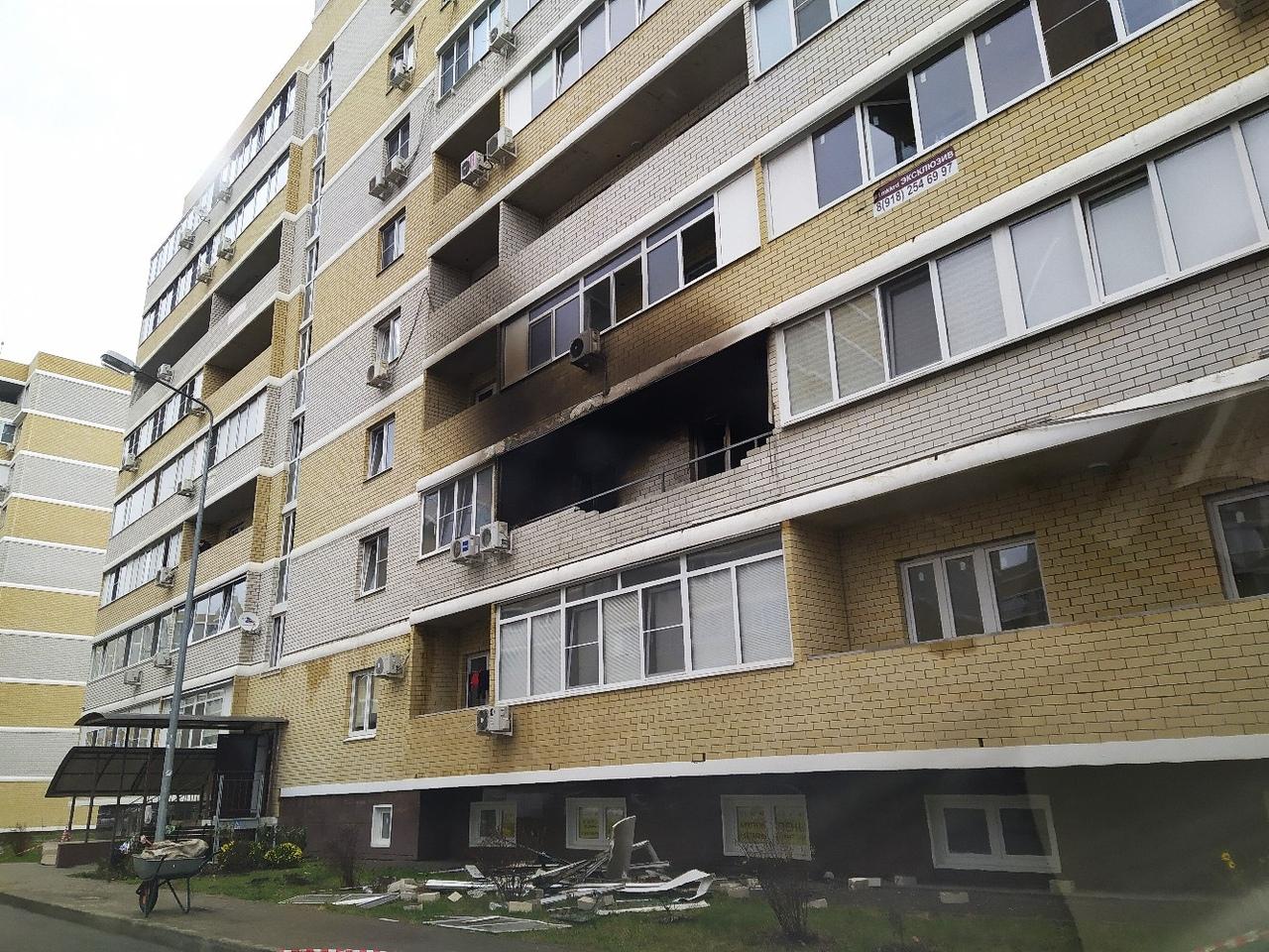 Полиция разыскивает возможных виновников пожара в краснодарской многоэтажке