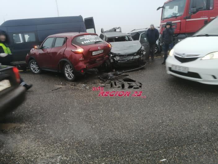 Массовая авария под Адыгейском произошла сегодня утром