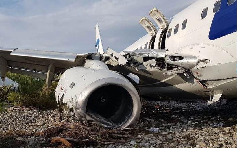 Аэропорт Сочи высказался о виновных в съезде самолета Boeing в реку