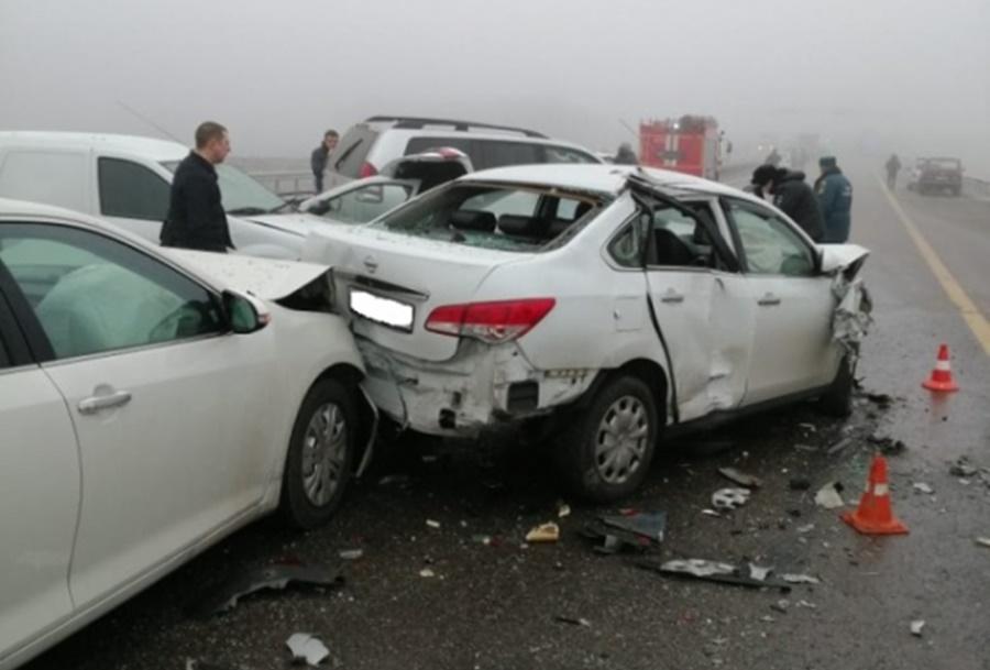 Число пострадавших в массовом ДТП в Адыгее возросло до 12