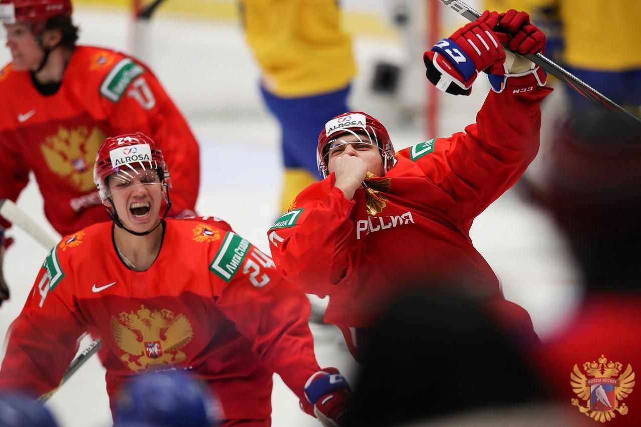 Россия вышла вфинал молодежного чемпионата мира похоккею