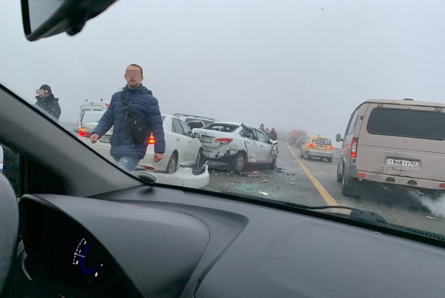 Массовая авария под Адыгейском. Подробности случившегося