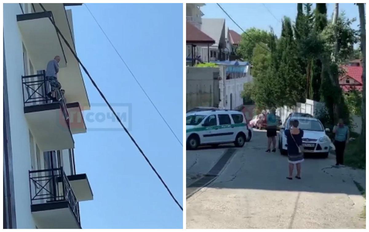 В Сочи мужчина угрожал прыгнуть с балкона в знак протеста сноса дома