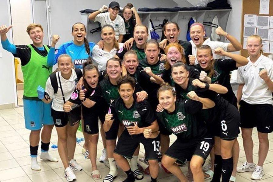 Женская сборная «Краснодара» одержала первую победу в матче с «Рязань-ВДВ»
