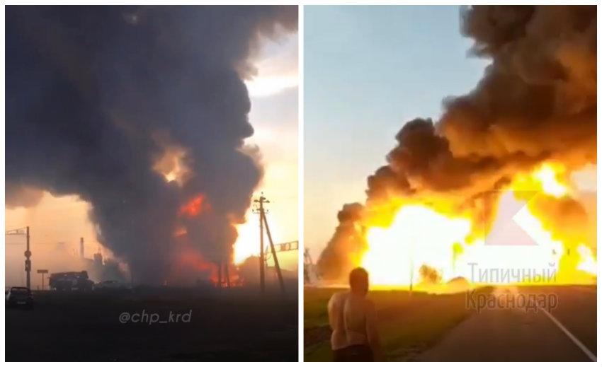 Увеличилось число пострадавших от пожара на заправке на Кубани