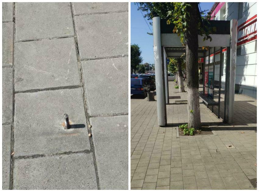 Торчащие на улицах Краснодара столбики калечат людей