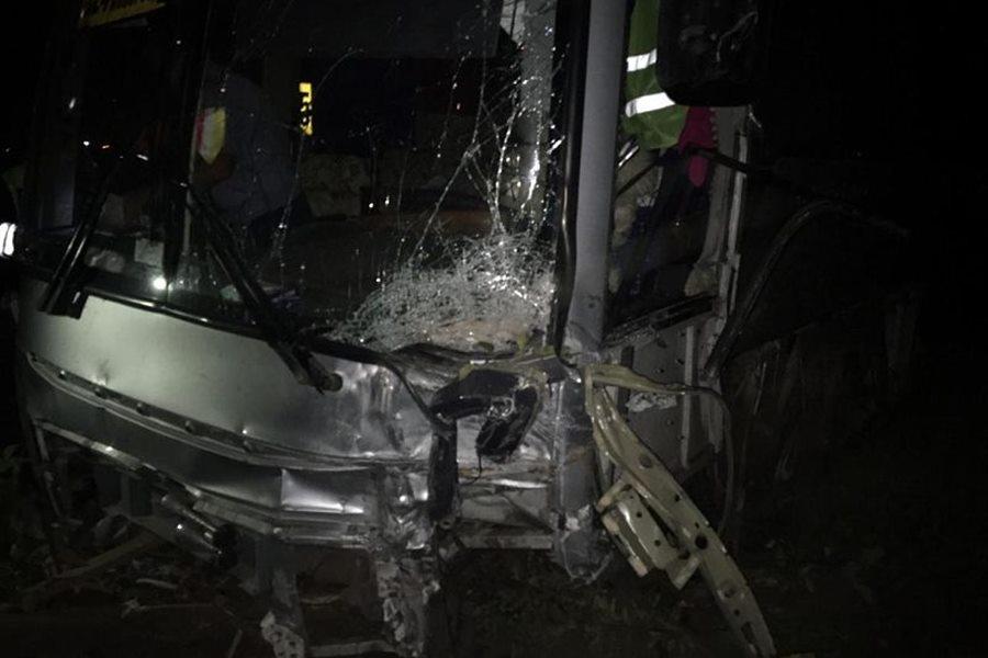 На трассе Краснодар — Верхнебаканский два человека погибли в ДТП с рейсовым автобусом