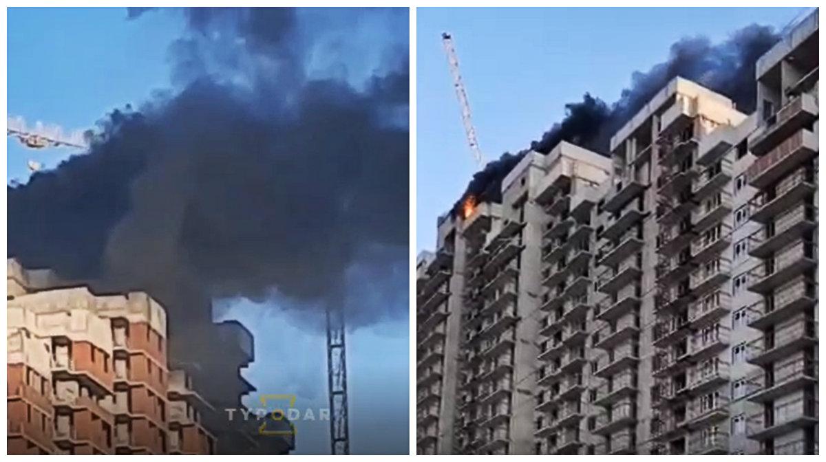 В Краснодаре потушили пожар в долгострое микрорайона Черемушки