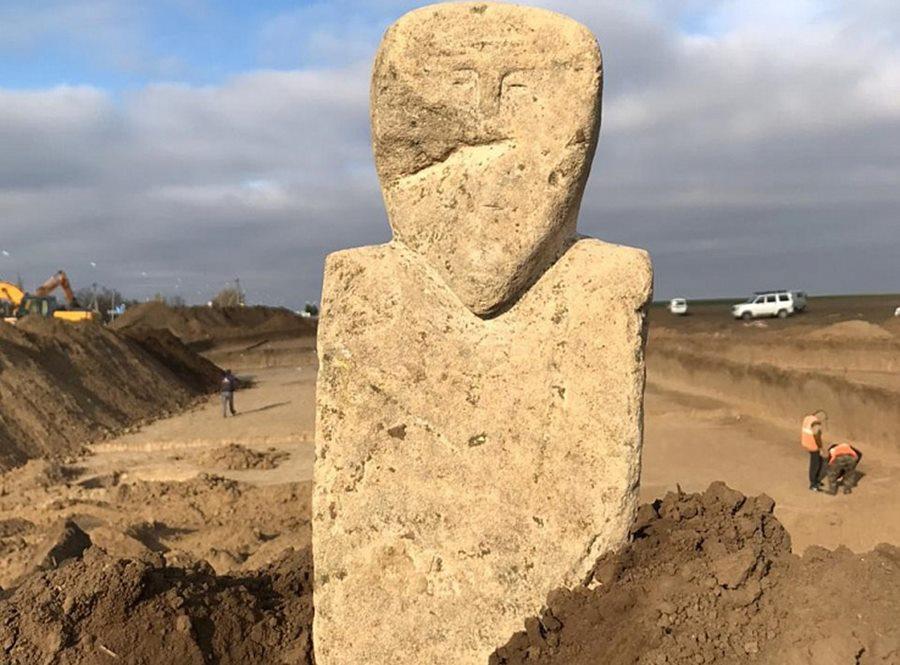 В Темрюкском районе найдено уникальное тюркское изваяние VII-VIII веков н. э