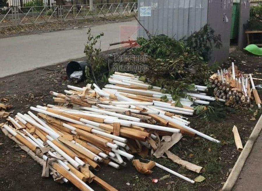 В Краснодаре обнаружена очередная свалка ртутных ламп
