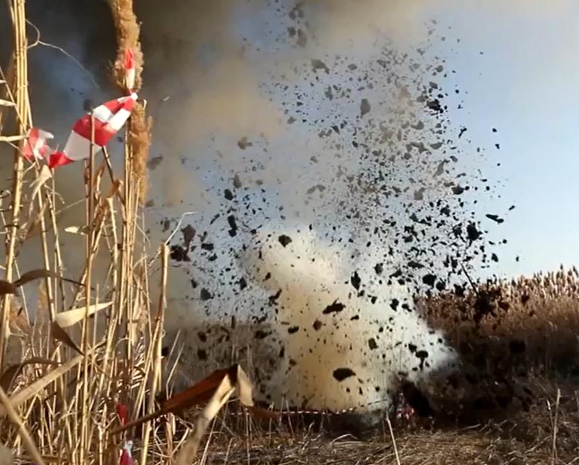 На Кубани уничтожили 100-килограммовую бомбу времен ВОВ