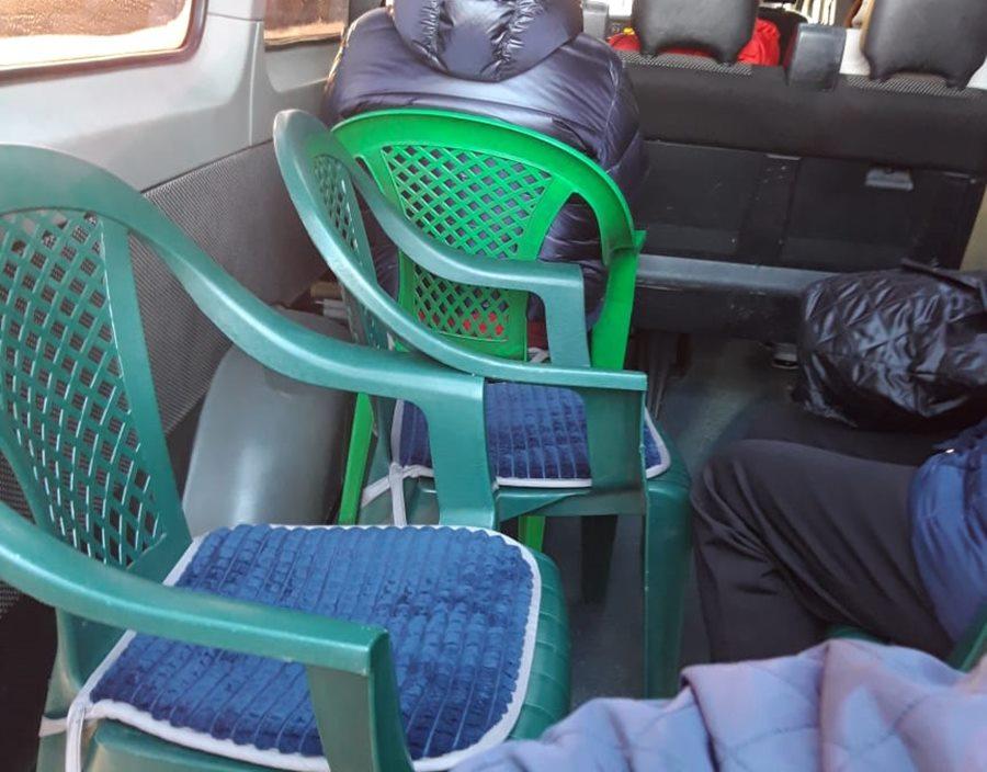 На Кубани вычислена еще одна ГАЗель, перевозившая людей на скамейках