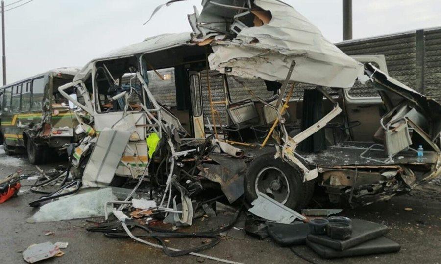 В ДТП с военными автобусами в Подмосковье погиб солдат-срочник из Краснодарского края