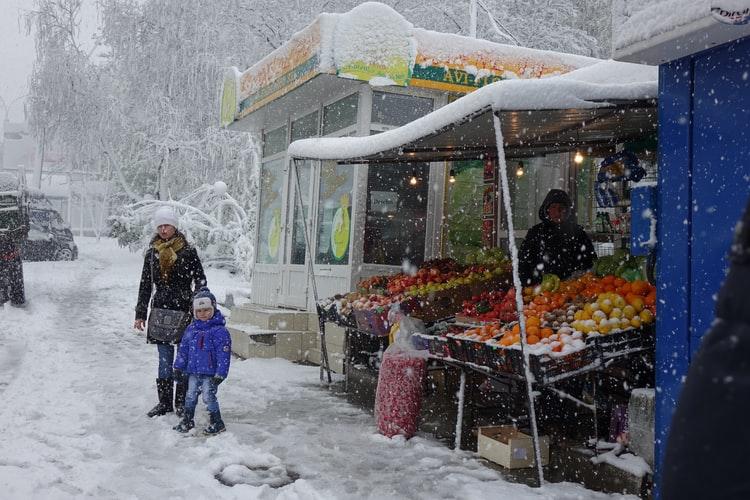 На Кубани действует экстренное предупреждение по сильному снегу до 18 февраля