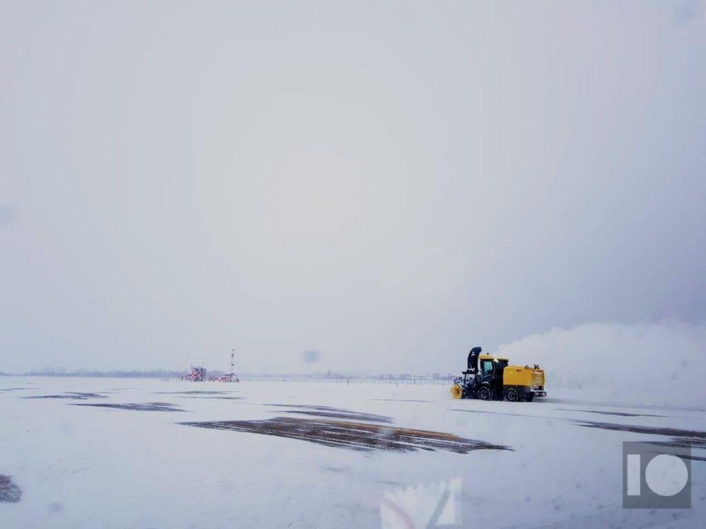 Международный аэропорт Краснодар закрыт из-за снегопада