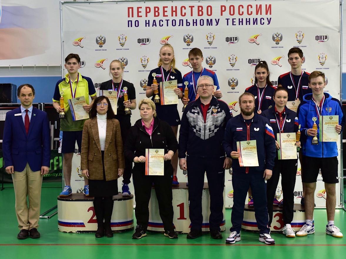 Кубанские юниоры взяли награды первенства России по настольному теннису