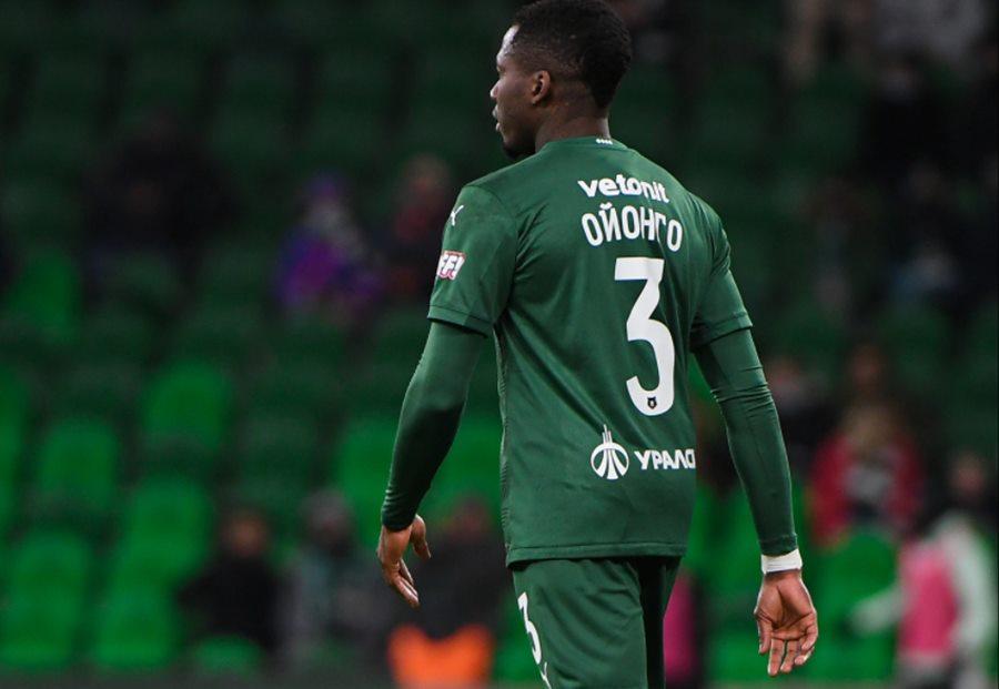 В дебютном матче за ФК «Краснодар» Ойонго получил травму и выбыл на полгода