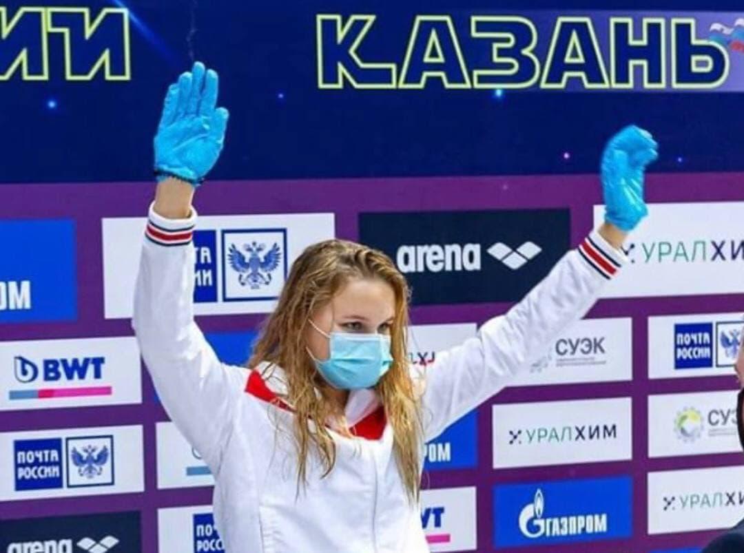 Кубанская пловчиха Анастасия Сорокина завоевала две золотые медали на чемпионате России