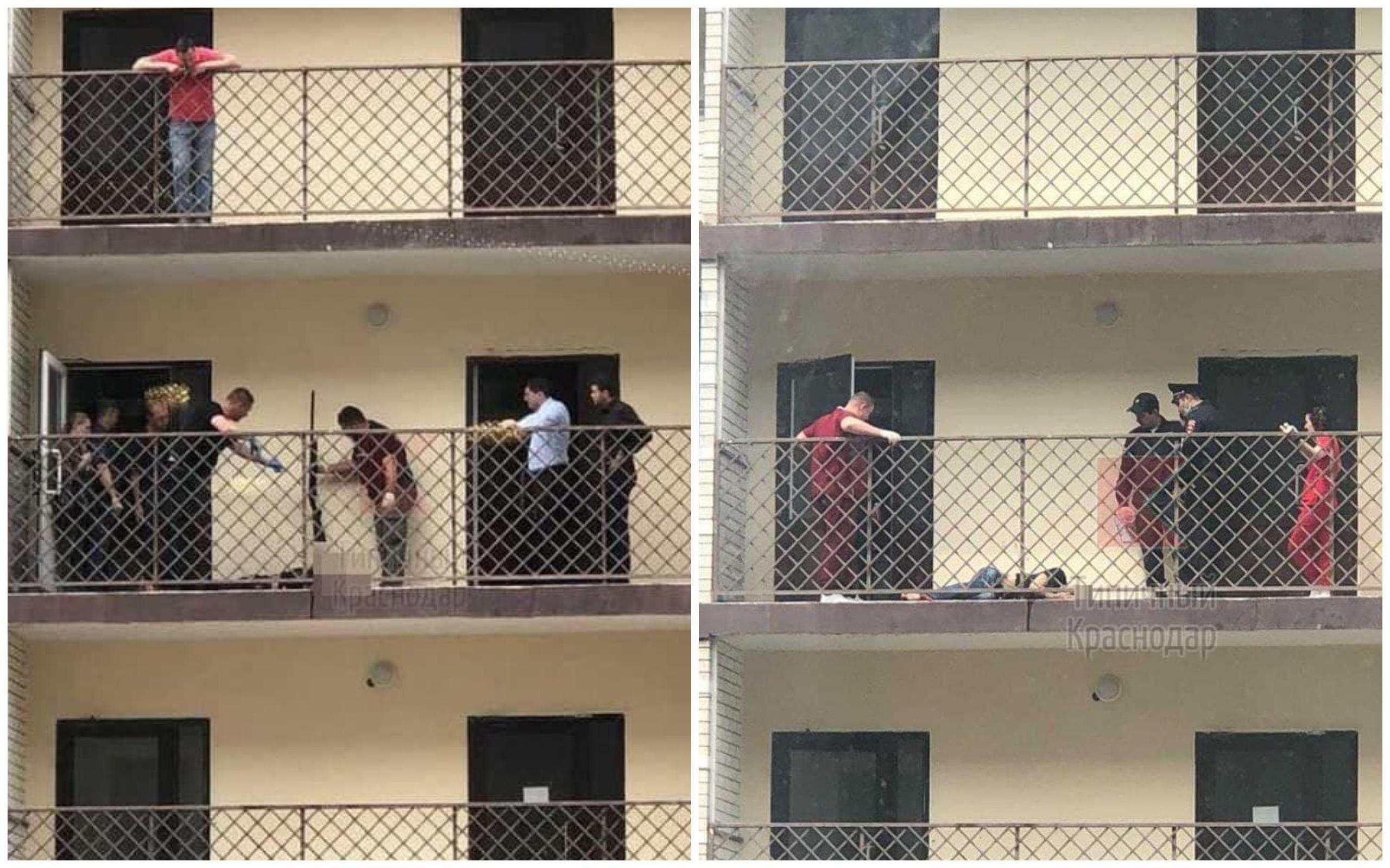 Появились подробности смерти мужчины на балконе ЖК в Краснодаре