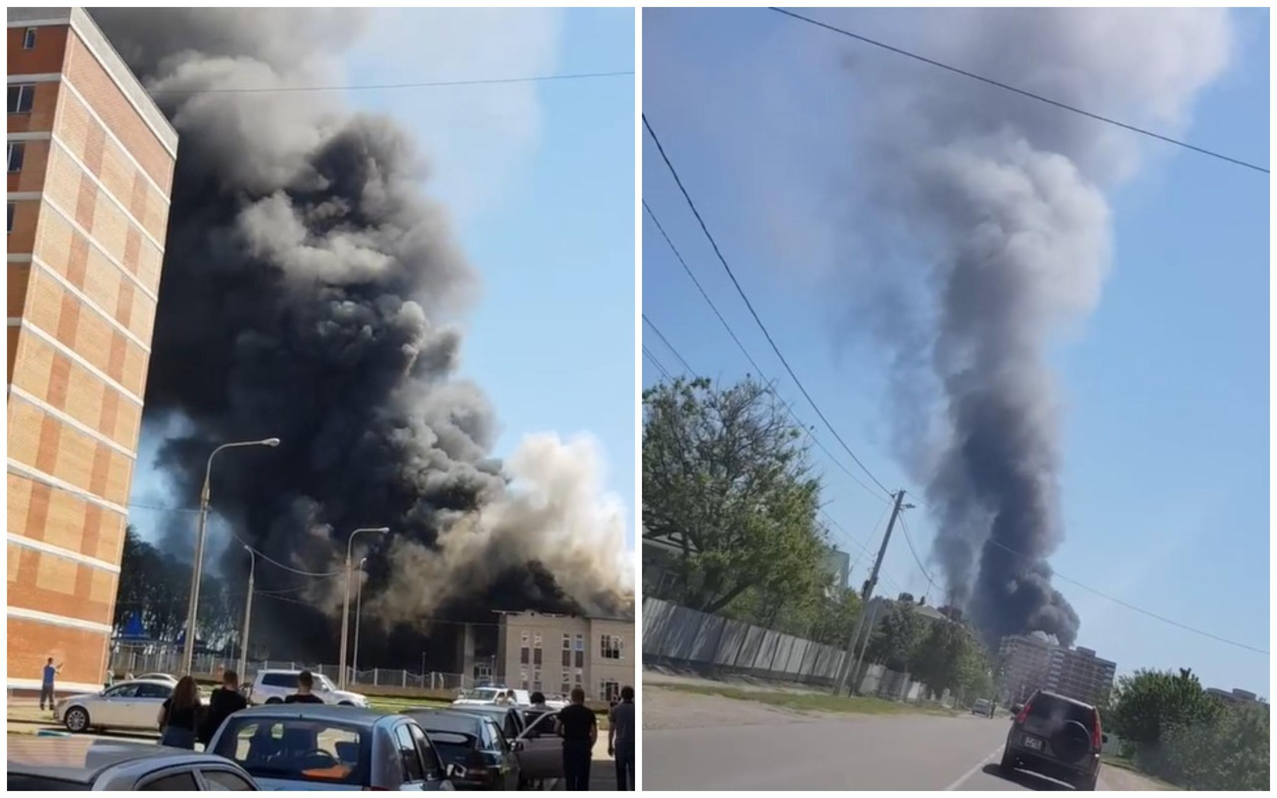 В Кореновске горит строящееся здание детского сада