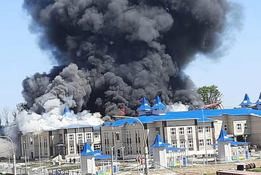 Уголовное дело возбуждено после пожара в строящемся детском саду в Кореновске