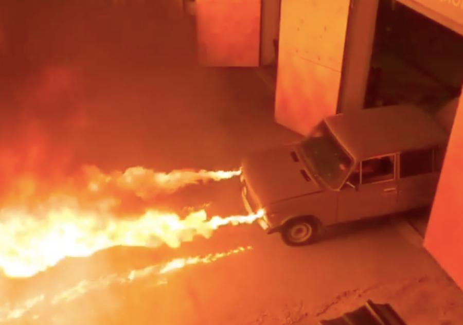 В Краснодаре построили машину-огнемет