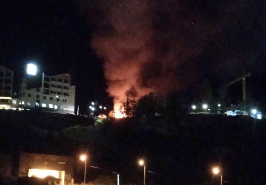 В Сочи сгорел бар в горной Олимпийской деревне