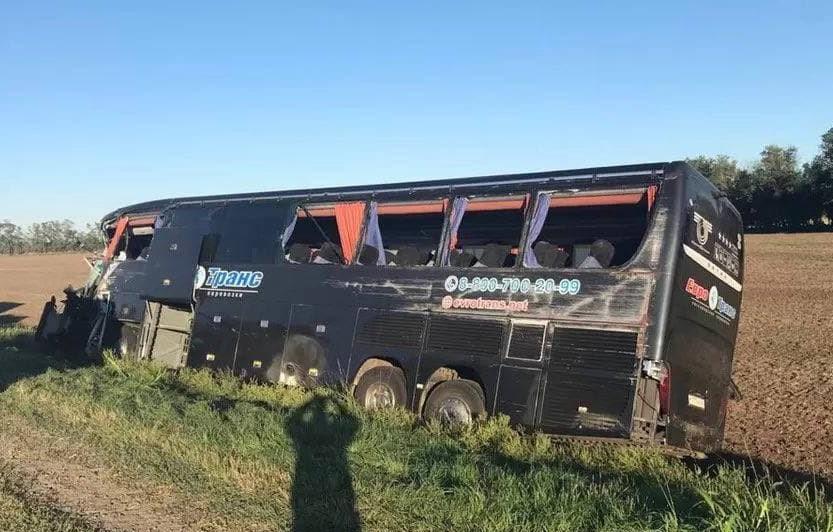 На Кубани автобус со студентами попал в ДТП, есть пострадавшие